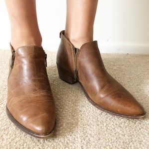 Steve Madden Leather Booties w/zippers
